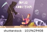 drug addiction horizontal... | Shutterstock .eps vector #1019629408