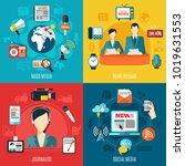 mass media 2x2 design concept... | Shutterstock .eps vector #1019631553