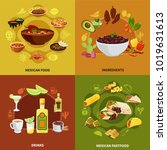 mexican food design concept... | Shutterstock .eps vector #1019631613