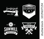 set of vintage carpentry ...   Shutterstock .eps vector #1019637154