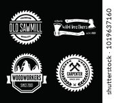 set of vintage carpentry ...   Shutterstock .eps vector #1019637160