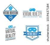 isolated vr headset logotype... | Shutterstock .eps vector #1019637184