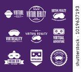 isolated vr headset logotype... | Shutterstock .eps vector #1019637193