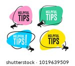 set of helpful tips megaphone... | Shutterstock .eps vector #1019639509