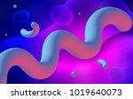 light pink  blue vector pattern ... | Shutterstock .eps vector #1019640073