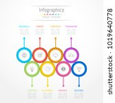 infographic design elements for ... | Shutterstock .eps vector #1019640778