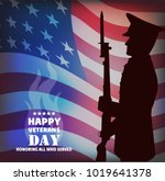 the image a card by veterans... | Shutterstock .eps vector #1019641378