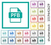 pfb file format flat color... | Shutterstock .eps vector #1019642629