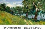 oil painting  handmade | Shutterstock . vector #1019643490