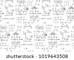 rotation. mathematical formulas ... | Shutterstock .eps vector #1019643508