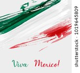 viva mexico background with... | Shutterstock .eps vector #1019645809