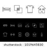 package icon set and cloth with ...