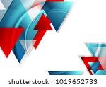 abstract tech geometric...   Shutterstock .eps vector #1019652733