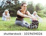 favourite activity. cheerful...   Shutterstock . vector #1019654026