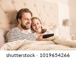 smiling caucasian father and... | Shutterstock . vector #1019654266