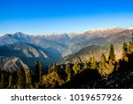 beautiful view of snow... | Shutterstock . vector #1019657926