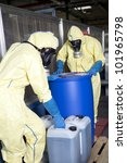 experts disposing infested...   Shutterstock . vector #101965798