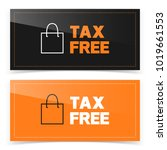 banner button design with tax... | Shutterstock .eps vector #1019661553