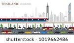 vector of bangkok city  rush... | Shutterstock .eps vector #1019662486