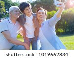 memorable day. beaming father...   Shutterstock . vector #1019662834