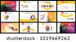 business presentation templates.... | Shutterstock .eps vector #1019669263
