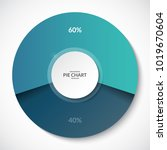 pie chart. share of 60 and 40... | Shutterstock .eps vector #1019670604