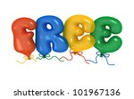 free word from balloons. 3d... | Shutterstock . vector #101967136