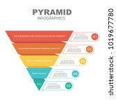 Pyramid Infographics. Funnel...
