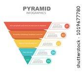 pyramid infographics. funnel... | Shutterstock .eps vector #1019677780