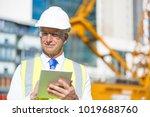 senior engineer man in suit and ... | Shutterstock . vector #1019688760