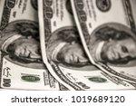 american hundred dollar bills.... | Shutterstock . vector #1019689120