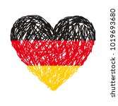 Flag Of Germany. Hand Drawn...