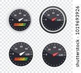 guage icon. credit score... | Shutterstock . vector #1019693926