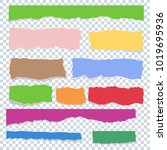 scrap paper color set. torn...   Shutterstock .eps vector #1019695936