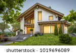 3d rendering of modern cozy... | Shutterstock . vector #1019696089