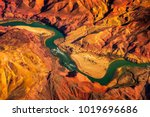 aerial landscape view of... | Shutterstock . vector #1019696686