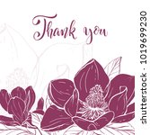 floral background. hand drawn... | Shutterstock .eps vector #1019699230
