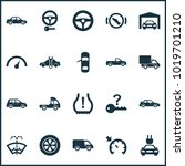 auto icons set with tie ... | Shutterstock .eps vector #1019701210