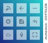user icons line style set with... | Shutterstock .eps vector #1019701258