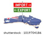import and export in australia... | Shutterstock . vector #1019704186
