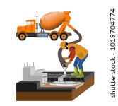 worker at building site are...   Shutterstock .eps vector #1019704774