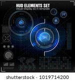 hud ui. abstract virtual... | Shutterstock .eps vector #1019714200