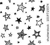 modern geometric star pattern.... | Shutterstock .eps vector #1019715574