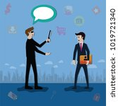big data concept data is... | Shutterstock .eps vector #1019721340