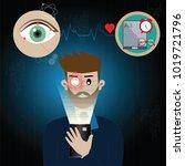 technology concept machine... | Shutterstock .eps vector #1019721796