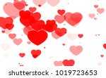 red and pink heart. valentine's ... | Shutterstock . vector #1019723653