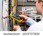 engineer checking power supply... | Shutterstock . vector #1019727820