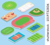 sport field vector flat... | Shutterstock .eps vector #1019732836