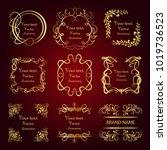 set of vector graphic elements... | Shutterstock .eps vector #1019736523