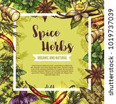 herb and spice poster with... | Shutterstock .eps vector #1019737039